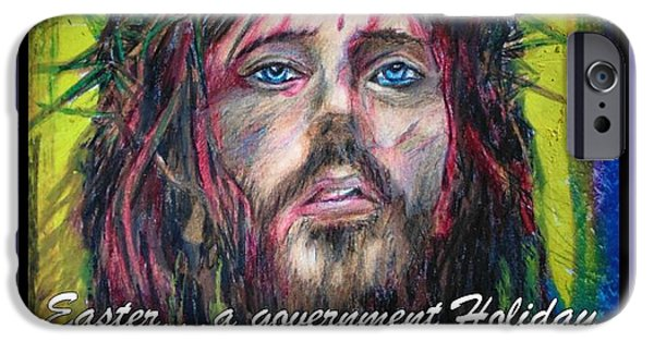 Jesus Drawings iPhone Cases - So Much More iPhone Case by John Malone Halifax Graphic Arts