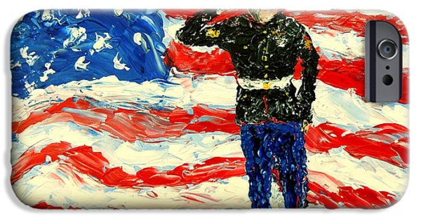 4th July Paintings iPhone Cases - So Proudly They Hailed  iPhone Case by Mark Moore
