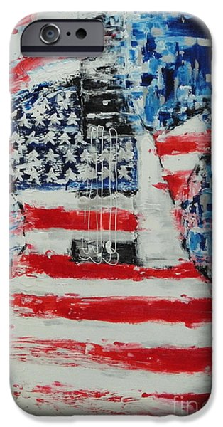Star Spangled Banner Paintings iPhone Cases - So Proudly We Hail iPhone Case by Dan Campbell