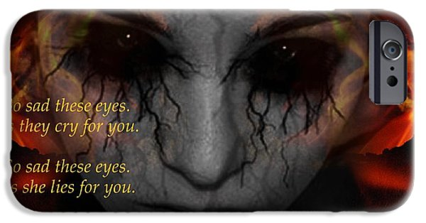 Torn iPhone Cases - So sad these eyes iPhone Case by Blair Stuart