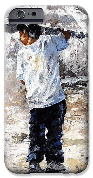 Rainy Day iPhone Cases - Soaked iPhone Case by Emerico Imre Toth