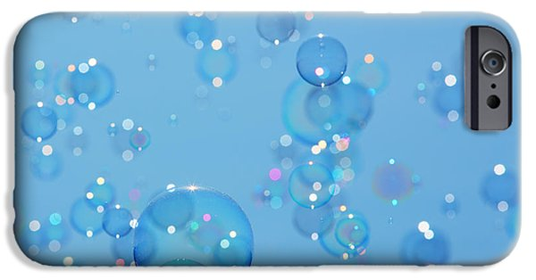 Bokeh iPhone Cases - Soap bubbles iPhone Case by Jane Rix
