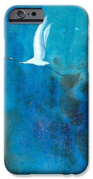 Soaring Paintings iPhone Cases - Soar II iPhone Case by Mui-Joo Wee
