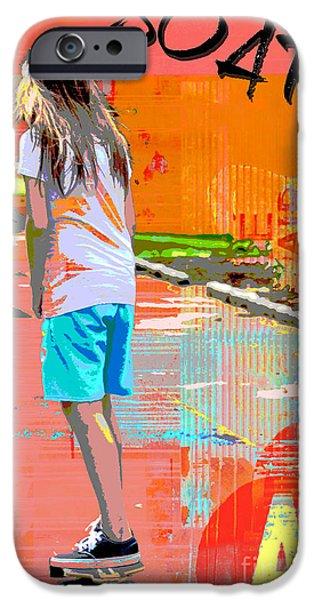Skateboards iPhone Cases - Soar skateboarding collage iPhone Case by ArtyZen Studios - ArtyZen Home