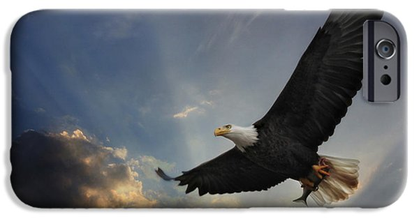 Animals Mixed Media iPhone Cases - Soar to new heights iPhone Case by Lori Deiter