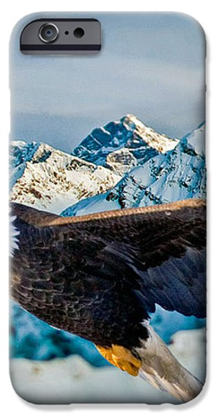 Soaring Bald Eagle iPhone Case by Gary Keesler