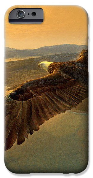 Soaring Eagle iPhone Case by Ray Downing