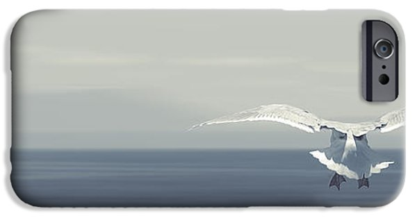 Flying Seagull iPhone Cases - Soaring Free iPhone Case by Lisa Knechtel