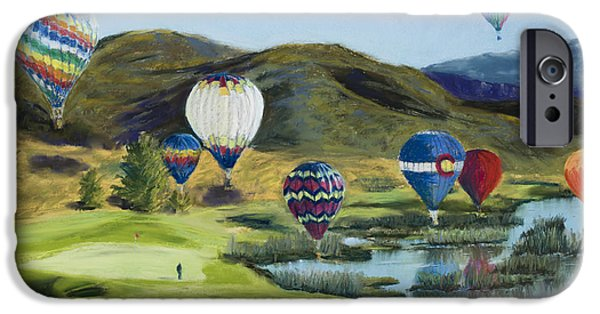 Vibrant Pastels iPhone Cases - Soaring Over Colorado iPhone Case by Mary Benke