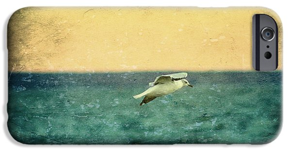 Flying Seagull iPhone Cases - Soaring Seagull iPhone Case by Heidi Piccerelli
