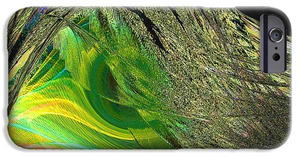 Abstract Digital Paintings iPhone Cases - Soaring Wing iPhone Case by Thomas Bryant