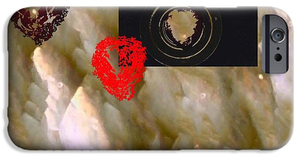 Digitally Signed Mixed Media iPhone Cases - Sobre La Luna iPhone Case by Feile Case