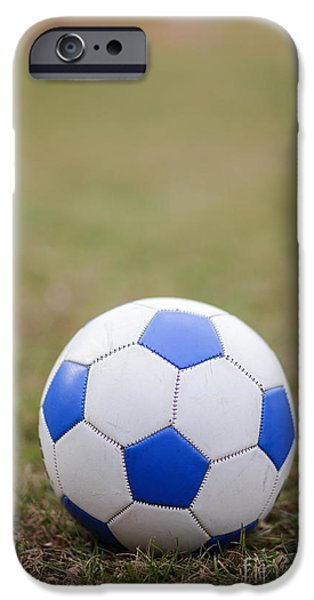 Team Sports iPhone Cases - Soccer Ball iPhone Case by Edward Fielding