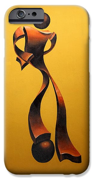 Sports Sculptures iPhone Cases - Soccer Player iPhone Case by Gonz Jove