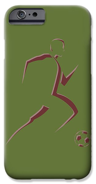 Dynamos iPhone Cases - Soccer Player10 iPhone Case by Joe Hamilton