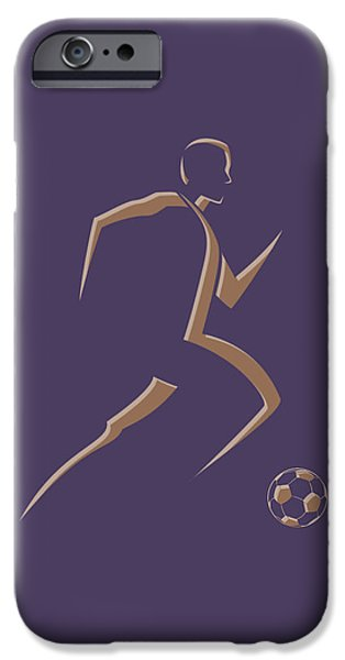 Dynamos iPhone Cases - Soccer Player3 iPhone Case by Joe Hamilton