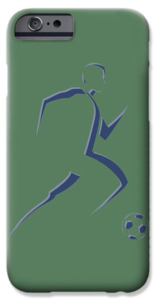 Dynamos iPhone Cases - Soccer Player6 iPhone Case by Joe Hamilton