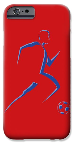 Dynamos iPhone Cases - Soccer Player8 iPhone Case by Joe Hamilton