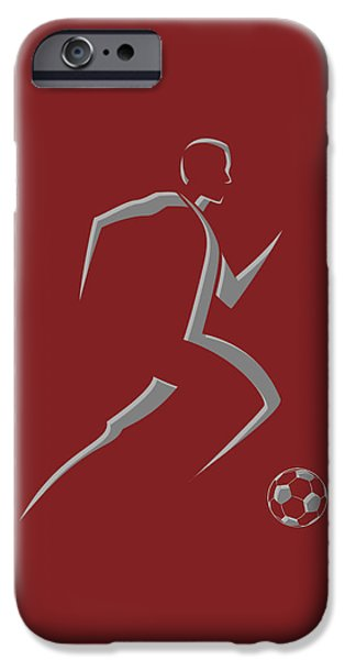 Dynamos iPhone Cases - Soccer Player9 iPhone Case by Joe Hamilton