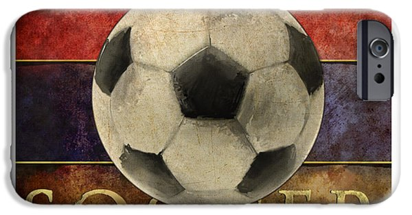 Tap iPhone Cases - Soccer Poster iPhone Case by Craig Tinder