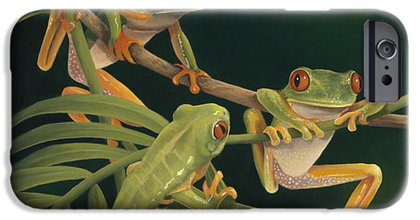 Rainforest iPhone Cases - Social Climbers iPhone Case by Laura Regan