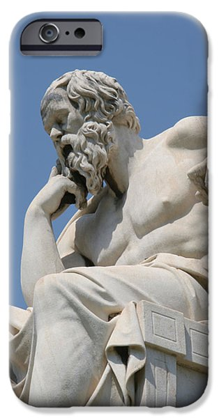 Thinking iPhone Cases - Socrates 469-399 Bc. Classical Greek Philosopher iPhone Case by Bridgeman Images