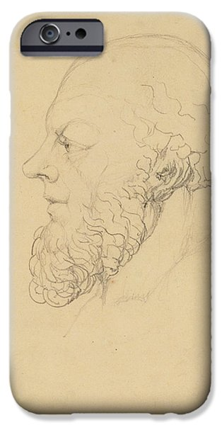 William Blake Drawings iPhone Cases - Socrates iPhone Case by William Blake