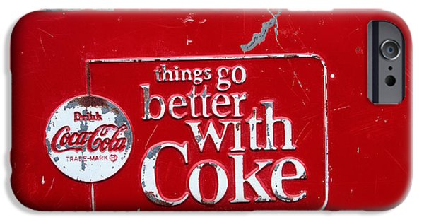 Coca-cola Signs iPhone Cases - Soda of choice iPhone Case by Toni Hopper