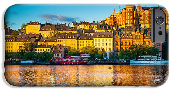 Facade iPhone Cases - Sodermalm Skyline iPhone Case by Inge Johnsson