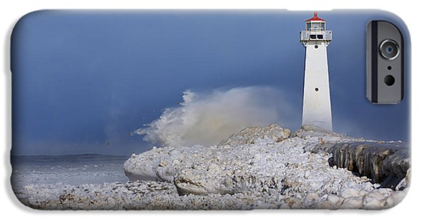Lighthouses iPhone Cases - Sodus Bay Lighthouse iPhone Case by Everet Regal