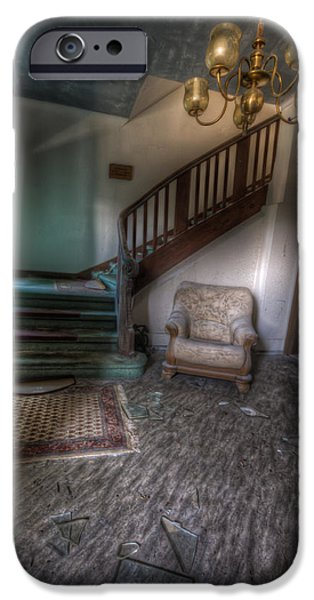 Haunted House iPhone Cases - Sofa at the bottom iPhone Case by Nathan Wright