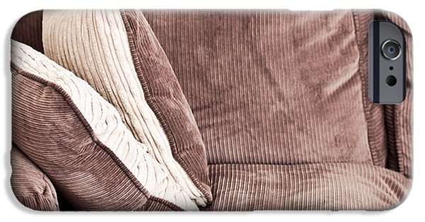 Beige iPhone Cases - Sofa cushions iPhone Case by Tom Gowanlock