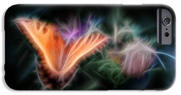 Tiger Fractal iPhone Cases - Soft as Silk Fractal iPhone Case by Shelle Ettelson
