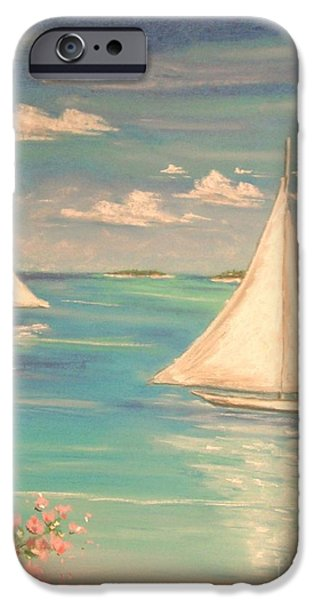 Sailing Pastels iPhone Cases - Soft Breeze iPhone Case by The Beach  Dreamer
