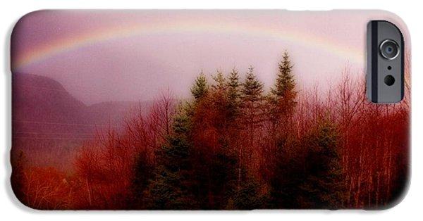 Halifax Art Work iPhone Cases - Soft Cape Breton Rainbow iPhone Case by John Malone