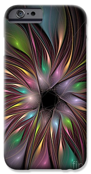 Green Surreal Geometric iPhone Cases - Soft Colors Of The Rainbow iPhone Case by Deborah Benoit