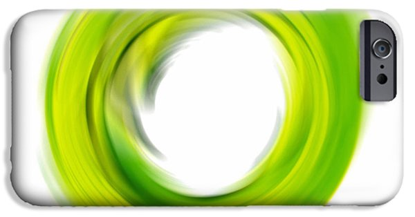 Enso iPhone Cases - Soft Green Enso - Abstract Art By Sharon Cummings iPhone Case by Sharon Cummings