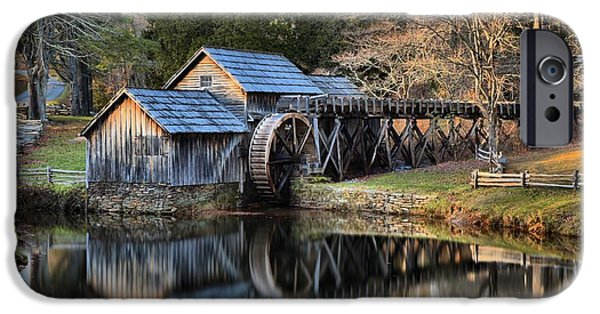 Grist Mill iPhone Cases - Soft Light At Mabry Grist Mill iPhone Case by Adam Jewell