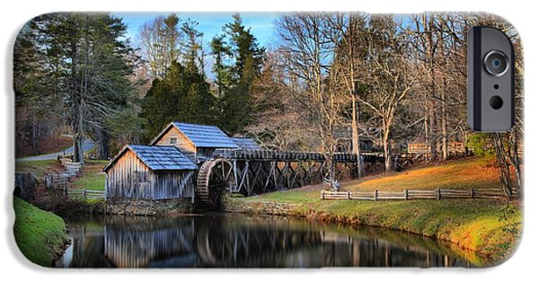 Grist Mill iPhone Cases - Soft Light At Mabry Mill iPhone Case by Adam Jewell