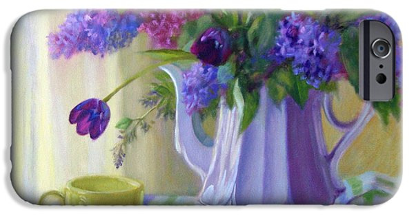 Business Paintings iPhone Cases - Soft Light iPhone Case by Bonnie Mason