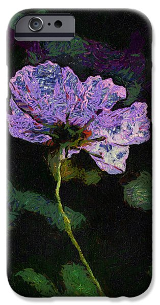 Asymmetrical iPhone Cases - Soft Morning Light On Purple Flower 04 iPhone Case by Thomas Woolworth