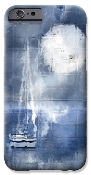 Sailboat Ocean Mixed Media iPhone Cases - Soft Mystic iPhone Case by Melissa Smith
