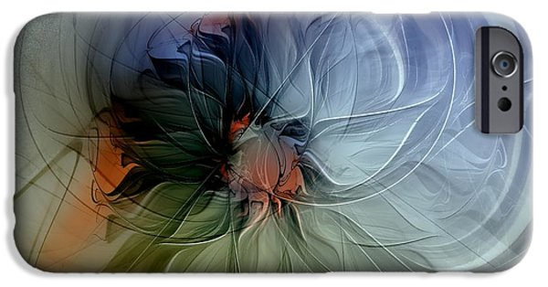 Floral Digital Art Digital Art Digital Art iPhone Cases - Soft Pastels iPhone Case by Amanda Moore