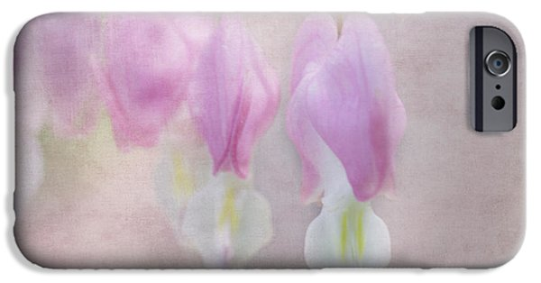 Jeff Swanson iPhone Cases - Soft Pink Heart iPhone Case by Jeff Swanson