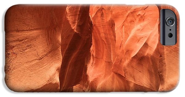 Holes In Sandstone iPhone Cases - Soft Sculpted Sandstone Walls iPhone Case by Adam Jewell