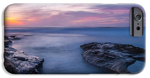 Ocean Panorama iPhone Cases - Soft Waters iPhone Case by Peter Tellone