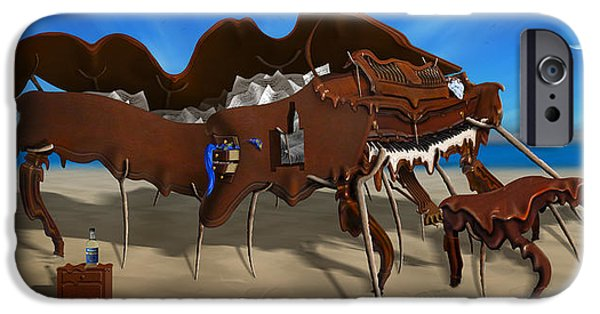 Surrealism Digital Art iPhone Cases - Softe Grand Piano Left Handed Panoramic iPhone Case by Mike McGlothlen