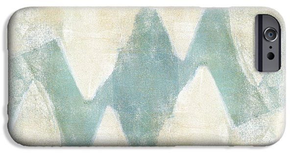 Carol Leigh iPhone Cases - Softly Green 1 Square iPhone Case by Carol Leigh