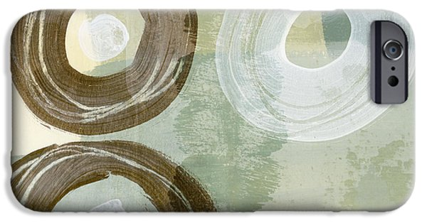 Muted iPhone Cases - Softly Green iPhone Case by Carol Leigh