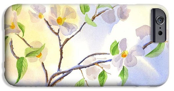 Business Paintings iPhone Cases - Softly Missouri Dogwood II iPhone Case by Kip DeVore